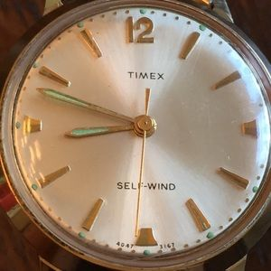 Vintage Timex Automatic Self-Wind Watch, Running.